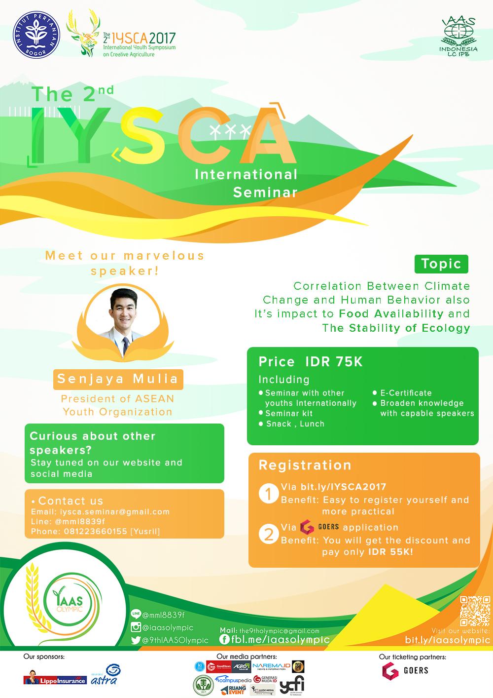 International Seminar of IYSCA 2017