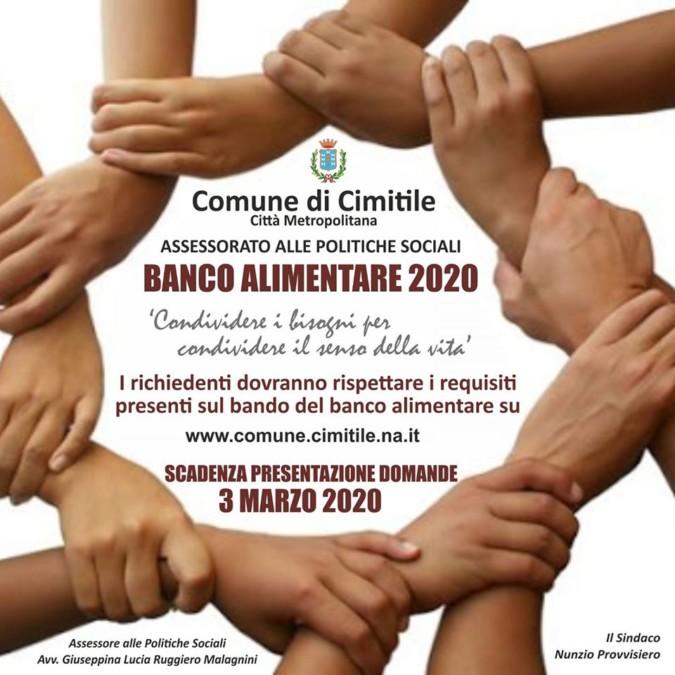Banco alimentare 2020 a Cimitile, aperte le domande.