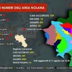 CoronaVirus, la mappa del contagio nel nolano [11 agosto ore 12.30]