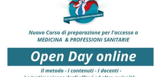 Corso di preparazione per l'accesso alle facoltà di Medicina e Professioni sanitarie: Open day on line di Soluzioni Srl
