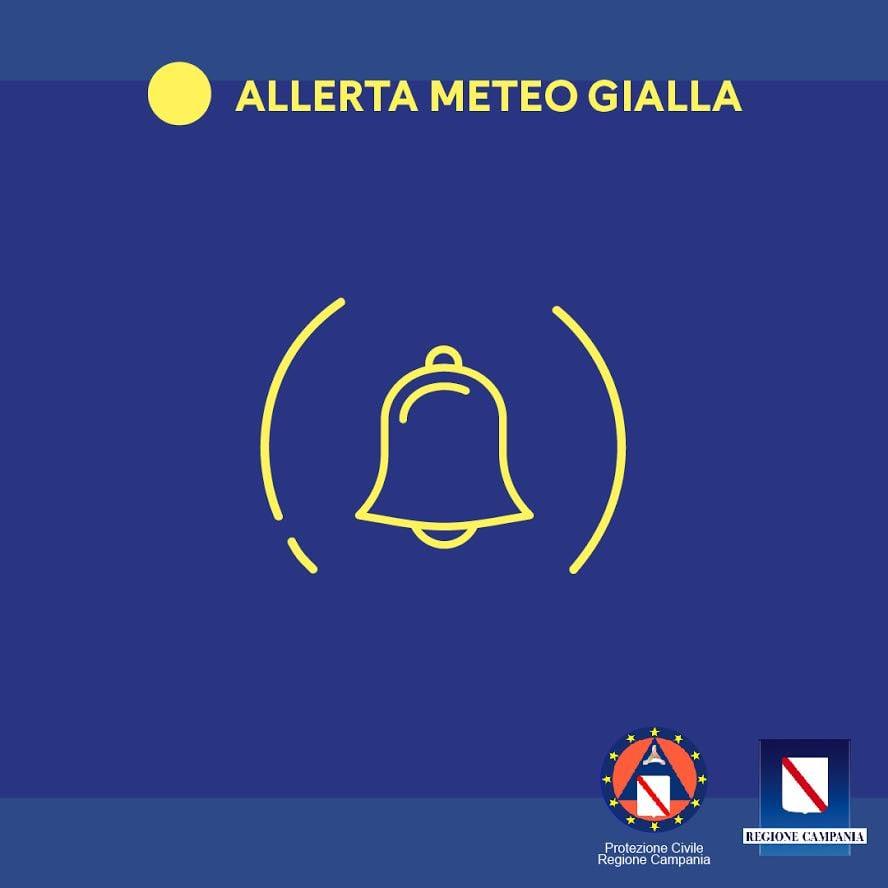 Domani allerta meteo gialla in Campania