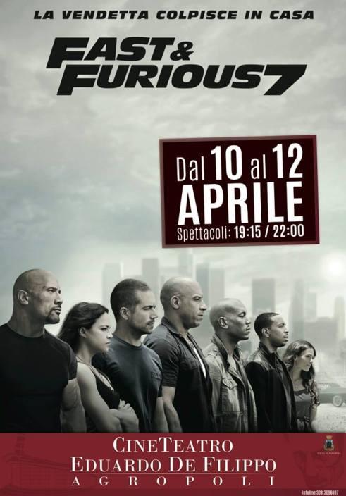 FAST&FURIOS7 LOCANDINA
