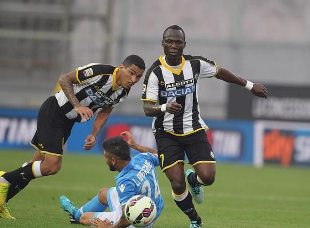 Marques Loureiro Allan in action during the Italian Serie A soccer match between Udinese Calcio and SSC Napoli at Friuli Stadium in Udine,  21 Settembre 2014. ANSA/ LANCIA