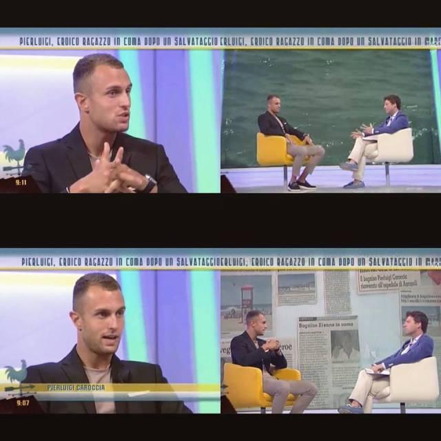 Pierluigi Caroccia in tv