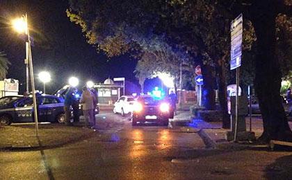 Incidente_Via_Roma_lampeggianti_polizia
