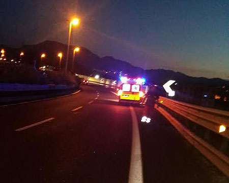 incidente-tangenziale-notte-ambulanza