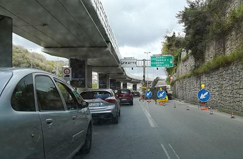 Traffico_Tangenziale_Fratte_lavori_1