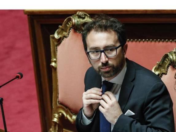 Il ministro della Giustizia Alfonso Bonafede in Senato durante il question time, Roma 7 febbraio 2019. ANSA/GIUSEPPE LAMI