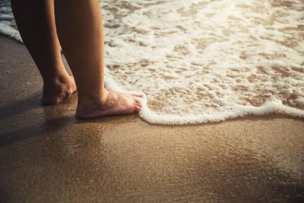 piedi spiaggia