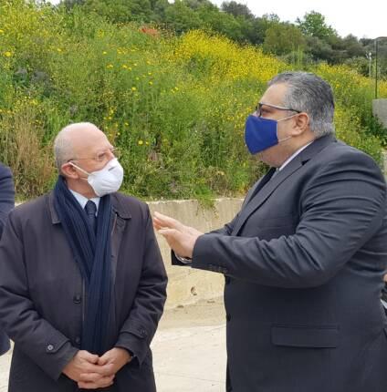 Sindaco Coppola con Presidente De Luca