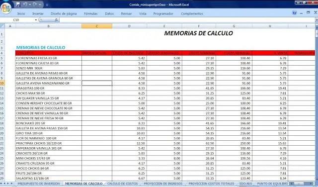 Ejemplo de memorias de calculo