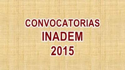 Convocatorias de los programas de INADEM