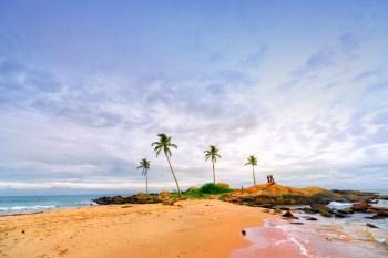 Sri Lanka Southern Province - People enjoying Sunset on Beach