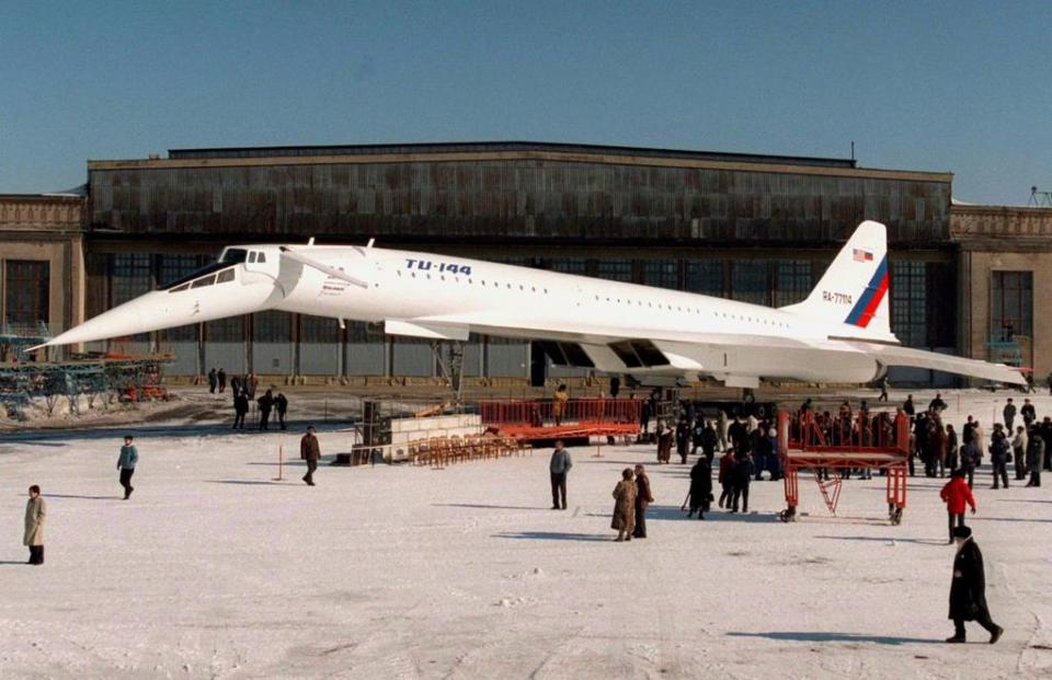 At the same time, engineers in the US and the Soviet Union were working on supersonic airliners of their own. The American Boeing 2707 never made it past the drawing board, while the Soviets' Tupolev TU144 made it into service but was quickly retired because of performance and safety problems.