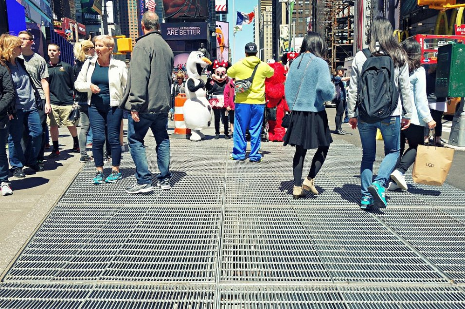 Times Square Art Installation, Subway Grate