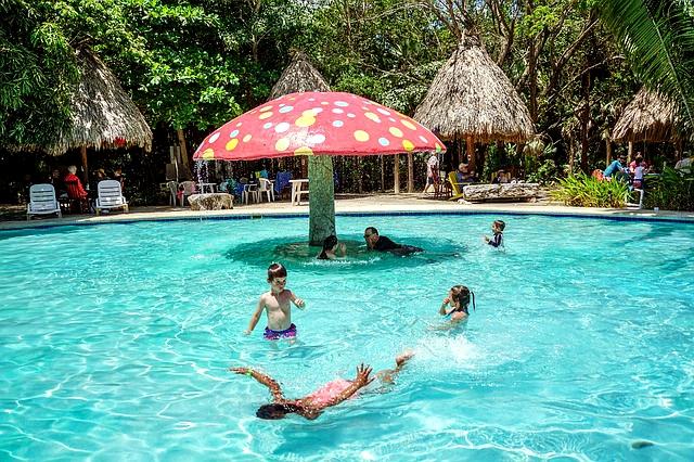 Swimming pools mean family fun!
