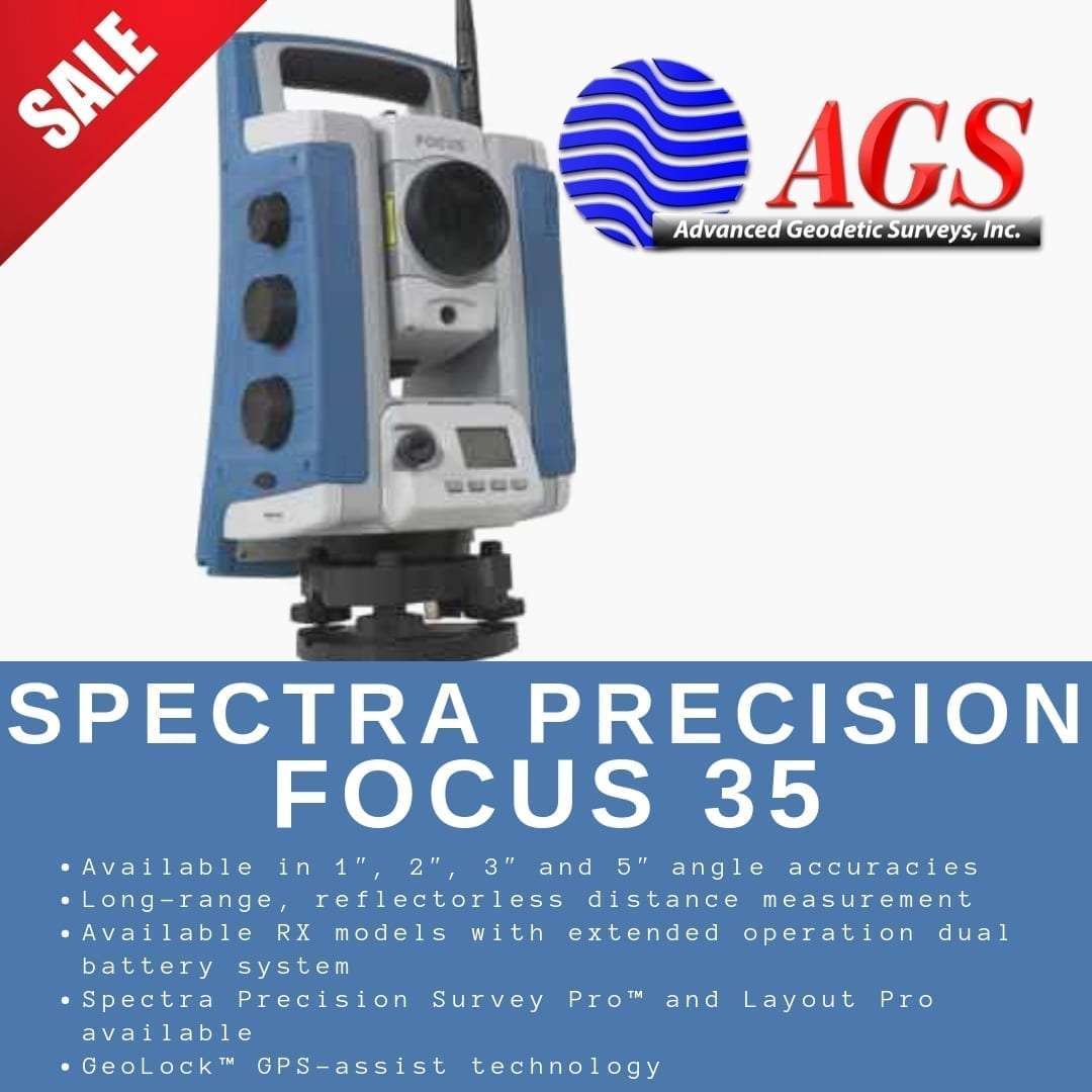 Central Nail Supply Houston Tx: Spectra Geospatial Focus 35 Rental Robotic Total Station