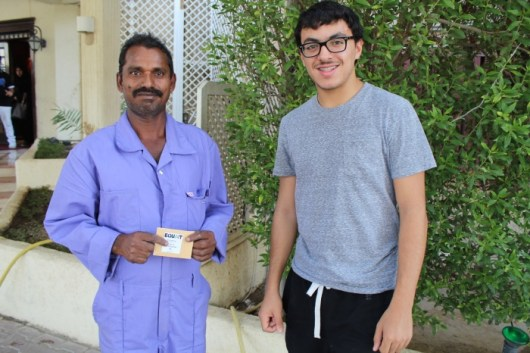Equait hosts a Ramadan food drive every year for guest workers. Photo courtesy of Faisal al-Fuhaid and Leanah al-Awadhi.