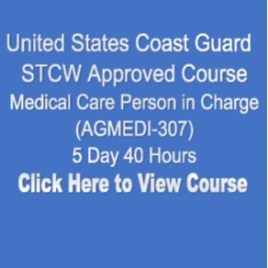 USCG NMC STCW Approved Medical Care Person in Charge 5 Day 40 Hours Click on Picture to View Description of Course and Pay