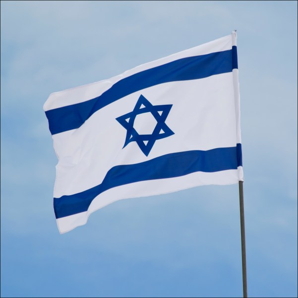 The flag of Israel in Yad LaShiryon, Latrun, Israel דגל ישראל ב