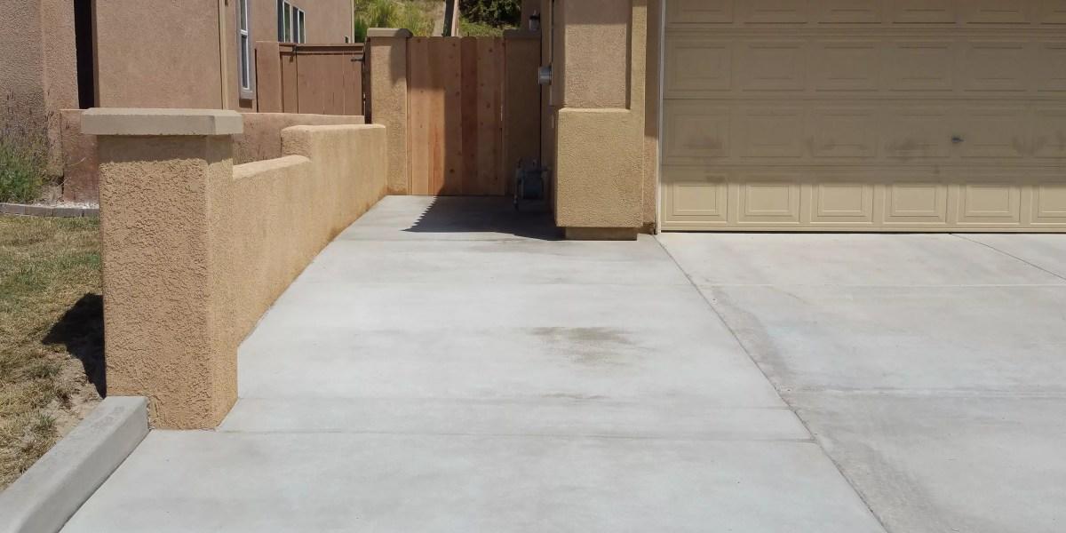 Retaining Wall & Concrete Driveway | Agundez Concrete