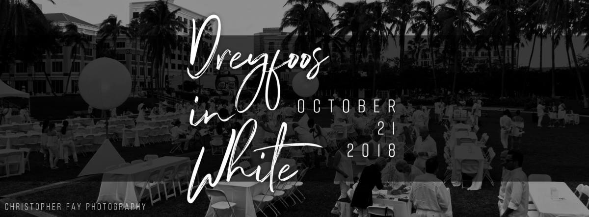 Sunday is Dreyfoos in White  - get tickets today!
