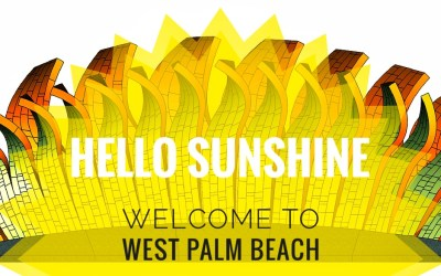 """Hello Sunshine sculptures say """"Hello"""" to visitors of West Palm Beach"""