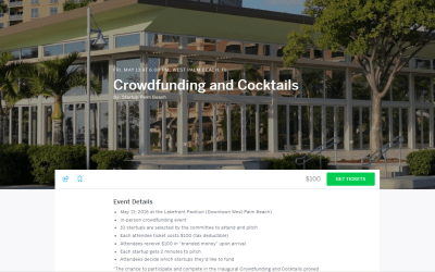Tonight: Crowdfunding and Cocktails connecting Entrepreneurs with local Funders