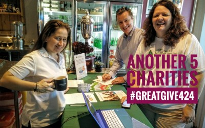 Another 5 Charities to Give to during today's Great Give! #GreatGive424