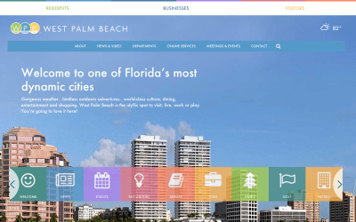 Sneak Peek: The City of West Palm Beach's website