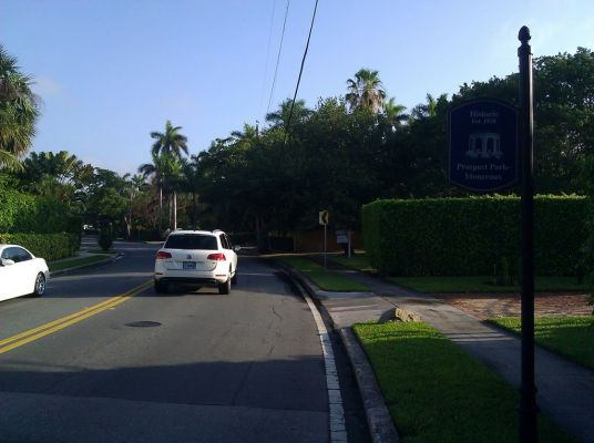 Flagler goes away from the waterfront for a drive through the Prospect Park Neighborhood