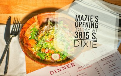 Mazie's at 3815 S. Dixie HWY opening for Dinner today