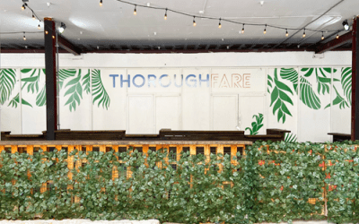 Thoroughfare opens today with 7 vendors & a scavenger hunt.