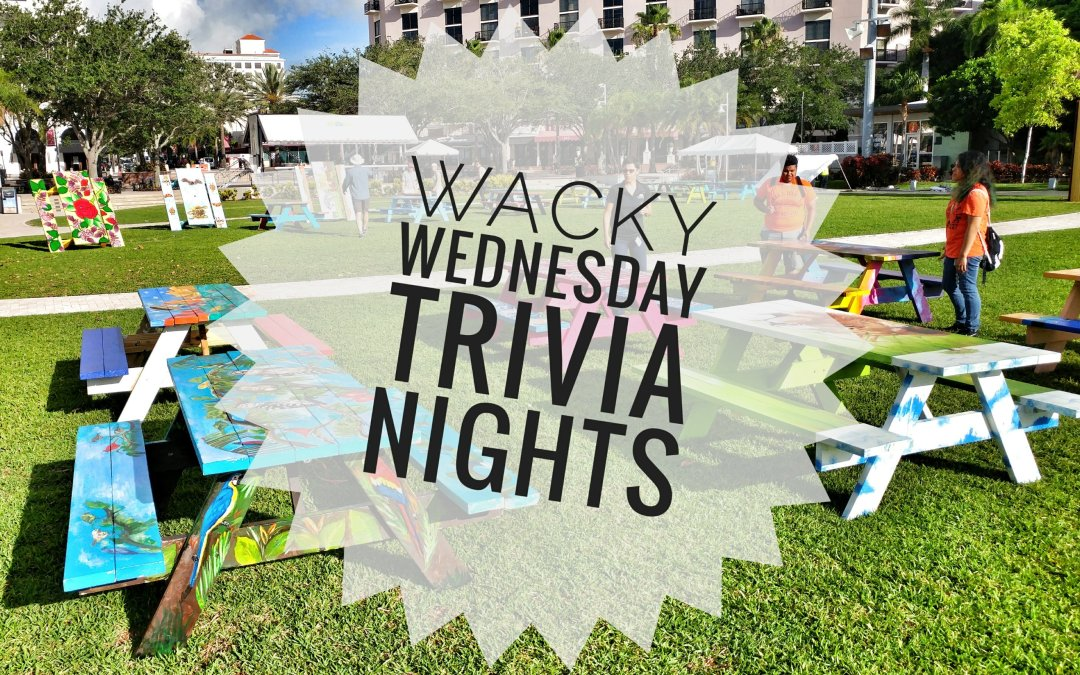 Wacky Wednesday Trivia starting at the Waterfront Tomorrow