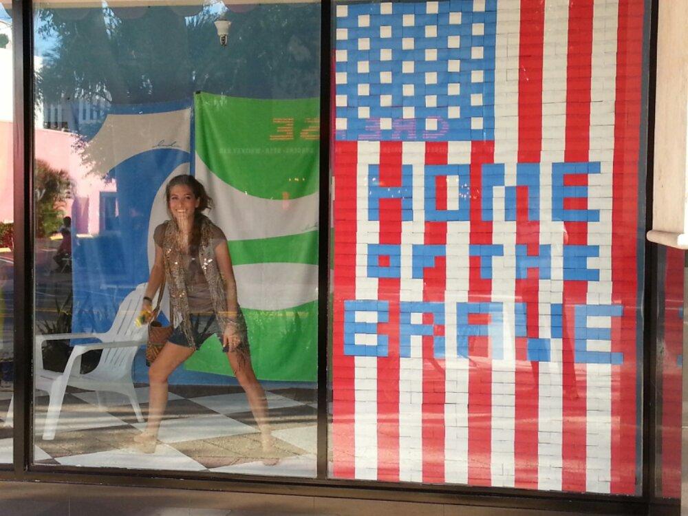 Patriotic Post It Pixel Art At Pioneer Linens Aguyonclematis