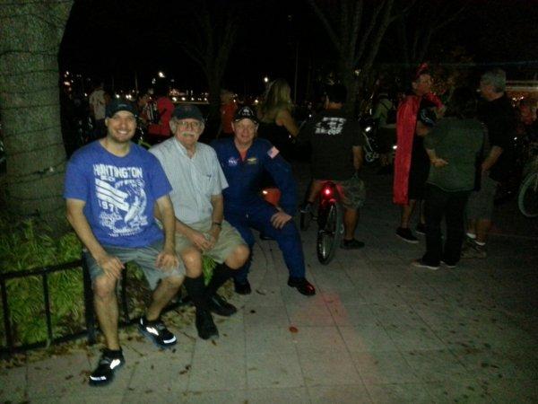 Jack the Bike Man (center) at the Freak Bike Militia ride