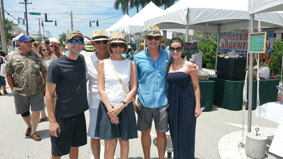Chris Roog, Chuck & Mayor Jeri Muoio, and Mr & Mrs @WalkableWPB