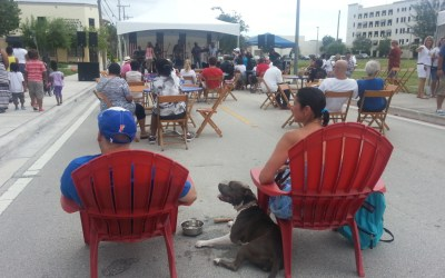 Exploring the Northwestern Downtown Area during the Taste of the South BBQ event
