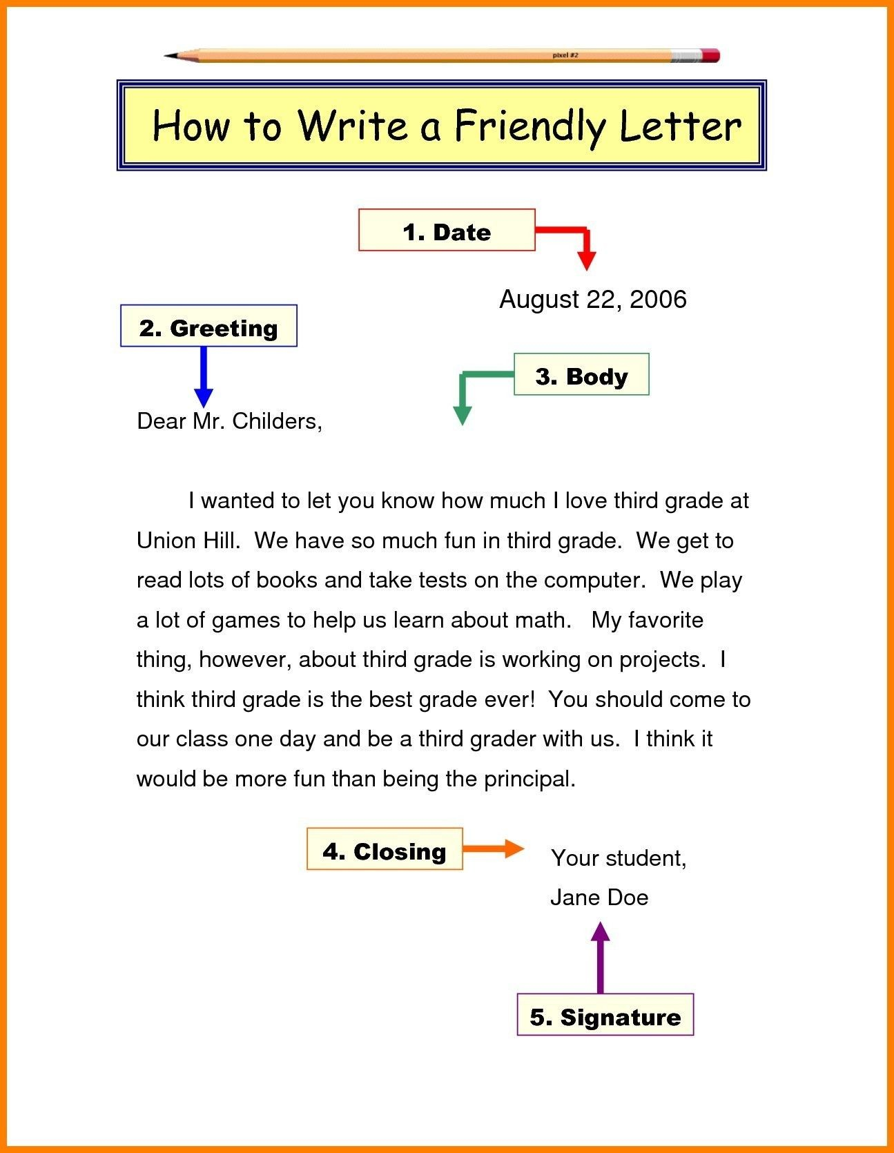 Year 5 Letter Examples Five Advantages Of Year 5 Letter