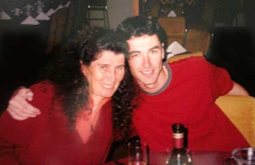Photo of Yaro and his mother