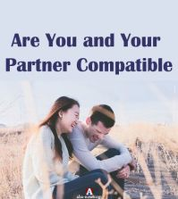 Two man and woman as compatible partners sitting on a field