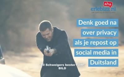Pas op met publiekelijk reposten van persoonlijk gerichte Duitse social media berichten