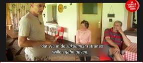 Mathijs van Nieuwkerk toont in DWDD fragment perfect Dolländisch Duits uit Ik Vertrek