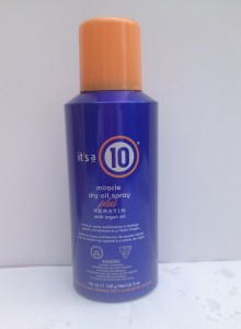 """it's a 10"" Miracle Dry Oil Spray"