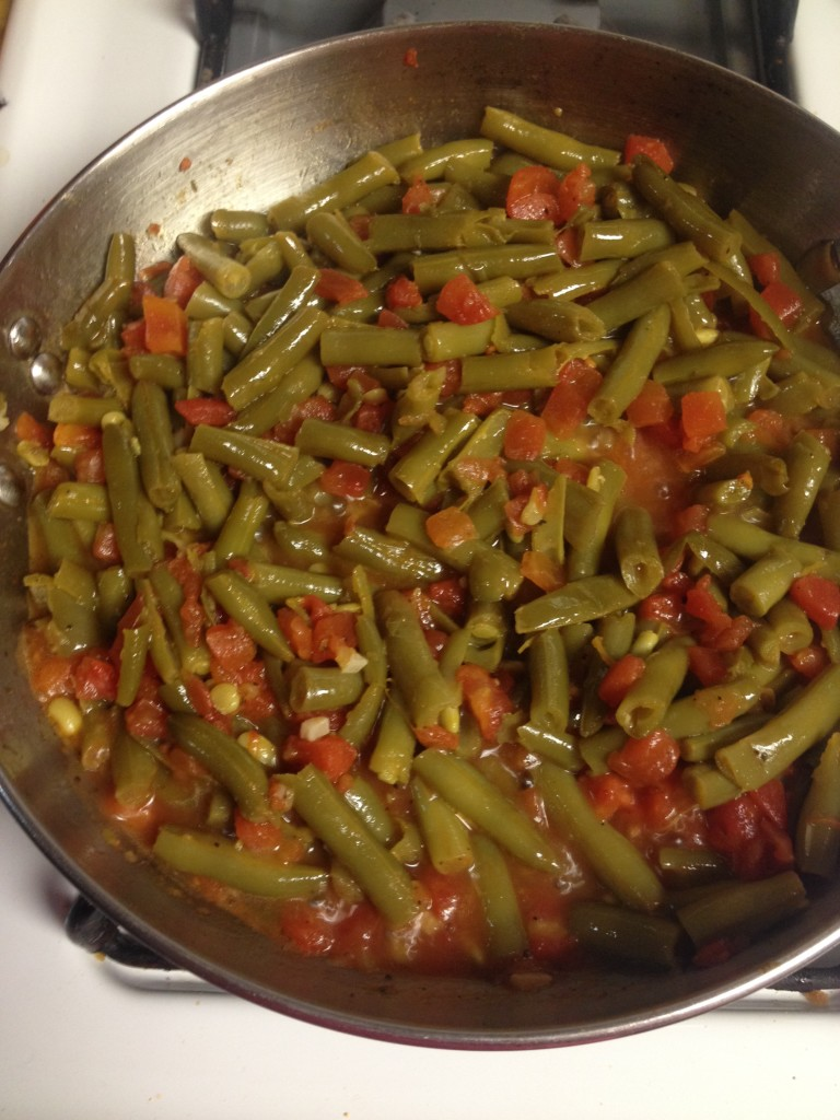 green bean sand tomatoes