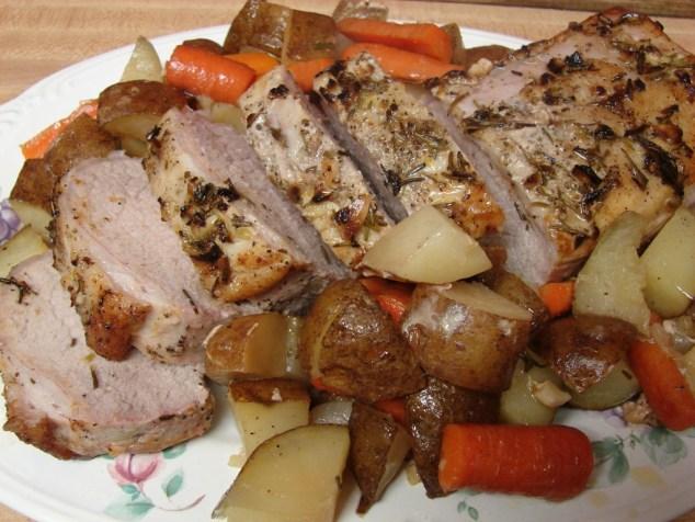 rosemary garlic citrus pork loin