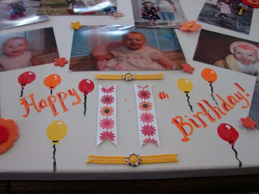 nostalgic birthday sign