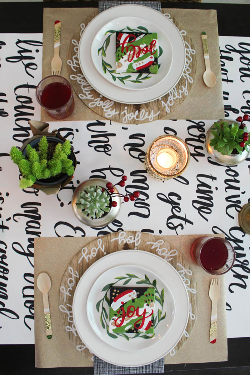 holiday table blog hop- within the grove