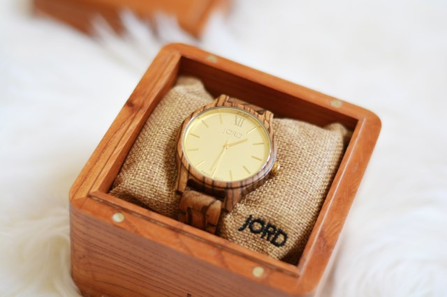 Jord Zebrawood wood watch A Happy Blog
