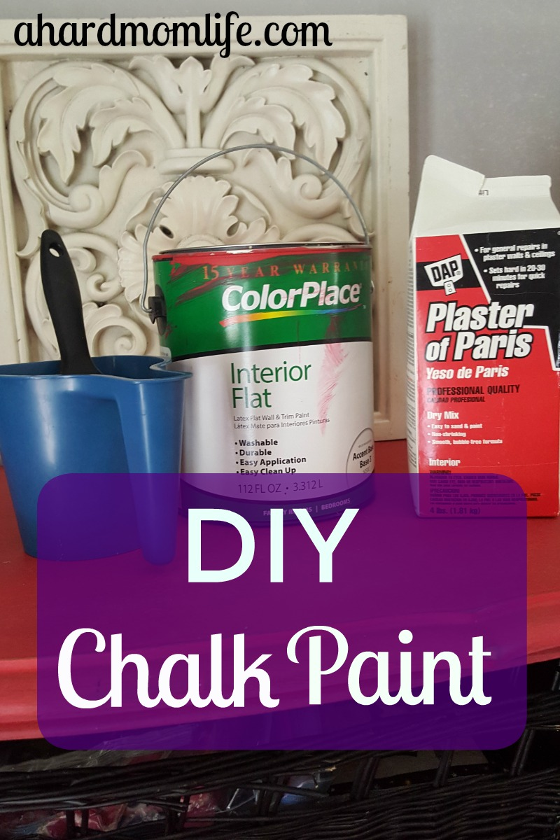 How To Make Chalk Paint Diy Chalk Paint A Hard Mom Life